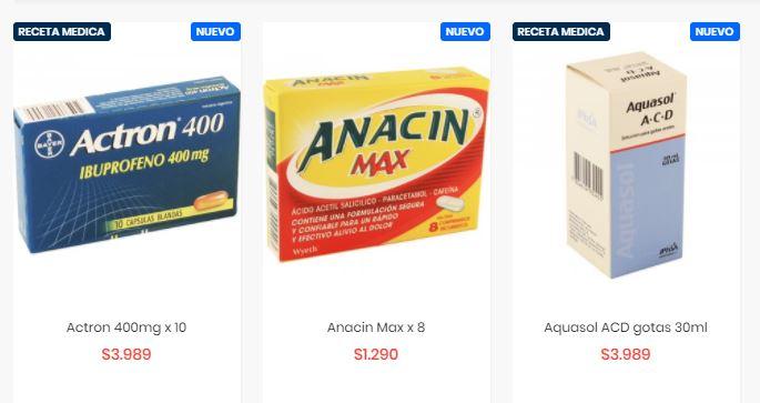 Parte de la actual oferta de Farmazon en su página web.